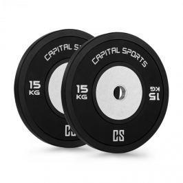 CAPITAL SPORTS Inval Hi-Grade versenytárcsák, 50 mm, alumínium mag, 2 x 15 kg