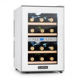 Klarstein Reserva borhűtő, 34 l, 12 palack, 2 hűtőzóna, 11-18°C , fehér