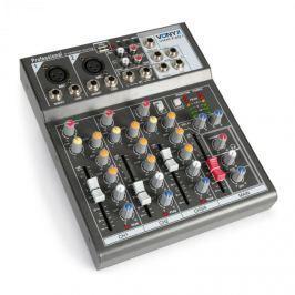 Vonyx VMM-F401 4 csatornás keverőpult, USB lejátszó, AUX-IN, +48V fantom tápellátás