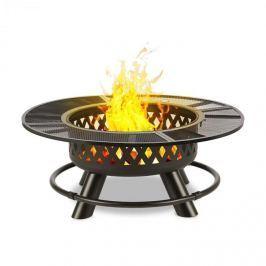 Blumfeldt Rosario 3 az 1-ben tűzrakó tál, Ø 120 cm, 70 cm-es grillsütő, asztallap, acél