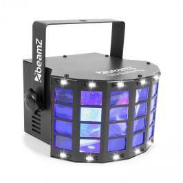 Beamz LED Butterfly 3x3W RGB + 14xSMD Strobe, zenével vezérelt- és automata üzemmód