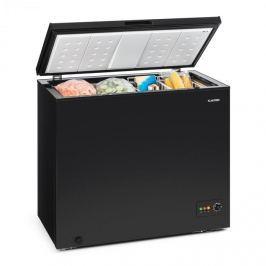 Klarstein Iceblokk 200, fagyasztóláda, fagyasztódoboz, A++, 200 liter, 2 felakasztható kosár, kerekek, fekete