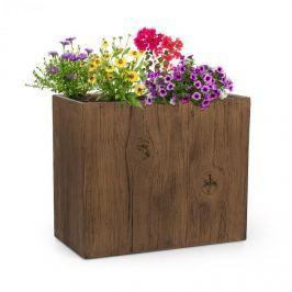 Blumfeldt Timberflor,kaspó, 60 x 50 x 30 cm, üveggyapot, kintre és bentre, barna