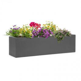 Blumfeldt Solidflor, kaspó, 75 x 20 x 20 cm, üveglaminát, beltéri és kültéri használatra, sötétszürke