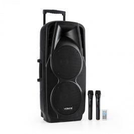 """Vonyx SPX-PA9210 SOUND RENDSZER 2X10"""" USB, SD/MMC BLUETOOTH TÖLTHETŐ AKKUMULÁTOR 4 - 6H"""