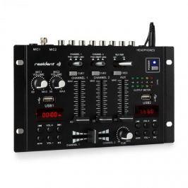 Resident DJ 22BT 2CH, 3-/2-csatornás keverőpult, 2 x USB, 3 x 6,3mm jack, fekete