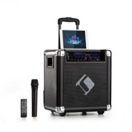 "Auna Moving 80, PA rendszer, 8"" woofer, max. 35 / 100 W, VHF mikrofon, USB, SD, BT, AUX, hordozható"