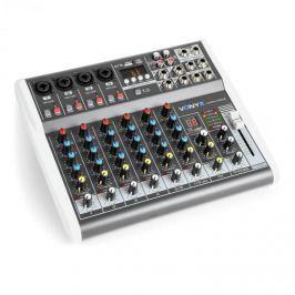 Vonyx VMM-K802, 8 csatornás keverőpult, USB port, BT vevő, 16 DSP, +48 V fantomtáp
