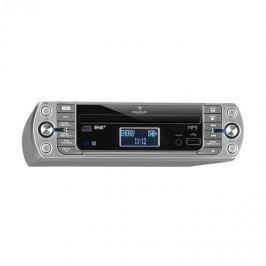 Auna KR-400 CD, konyhai rádió, DAB+/PLL FM rádió, WiFi, CD/MP3-lejátszó, ezüst