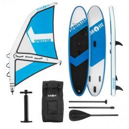 Klarfit Spreestar WS, felfújható paddleboard, sup-board-set, 300x10x71, kék-fehér