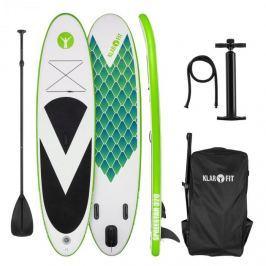 Klarfit Spreestar 320, felfújható paddleboard, SUP deszka, 320x12x81cm, zöld