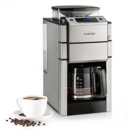Klarstein Aromatica X, csepegtető kávéfőző, daráló, üvegkancsó, Aroma+, rozsdamentes acél