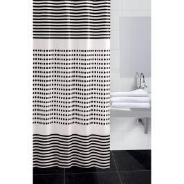 Darja zuhanyfüggöny, fekete, 180 x 180 cm