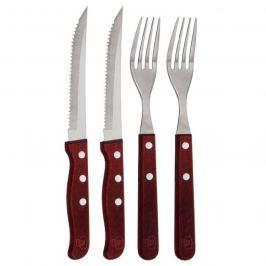 Blaumann Evőeszközkészlet steak rozsdamentes acél és fa, 4 db