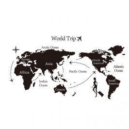 Öntapadós falmatrica World trip világtérkép