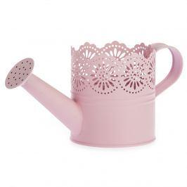 Lace fém öntözőkanna rózsaszínű, átm. 10 cm