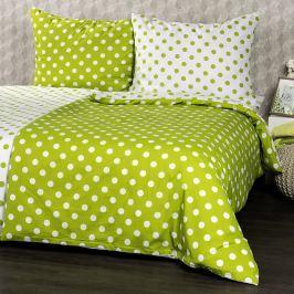 4Home pamut ágynemű, zöld pöttyös, 140 x 220 cm, 70 x 90 cm, 140 x 220 cm, 70 x 90 cm