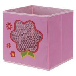 Virág textil tároló doboz, 28 x 28 x 28 cm