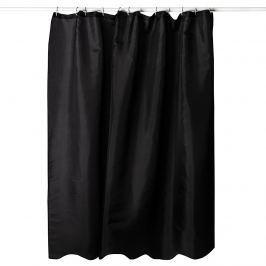 Zuhanyfüggöny, fekete, 180 x 180 cm