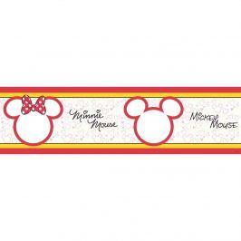 Mickey Mouse és  Minnie öntapadós bordűr tapéta, 500 x 14 cm