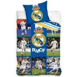 Real Madrid Mozaik pamut ágynemű, 140 x 200 cm, 70 x 90 cm