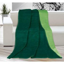 Bellatex Kira pléd sötétzöld/zöld, 150 x 200 cm