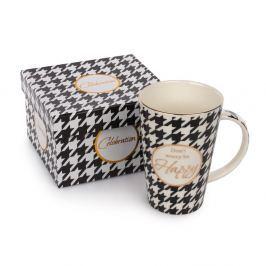 Happy porcelán bögre ajándékdobozban, 400 ml