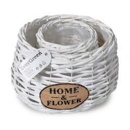 Home a Flower virágkaspó fehér, 2 db-os készlet