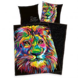 Herding Bureau Artistique - Colored Lion szatén ágyneműhuz, 140 x 200 cm, 70 x 90 cm