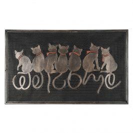 BO-MA Trading Ülő macskák kültéri lábtörlő, 45 x 75 cm