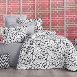 Delux Sabina pamut ágynemű, fekete-fehér, 200 x 200 cm, 2 db 70 x 90 cm, 200 x 200 cm, 2 ks 70 x 90 cm