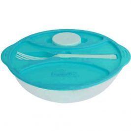 Frooshi műanyag salátásdoboz evőeszközzel, átmérő: 21 cm