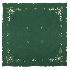 Karácsonyi abrosz, fagyöngy, zöld, 85 x 85 cm, 85 x 85 cm