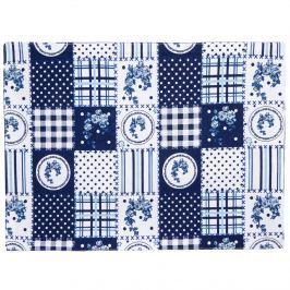Country tányéralátét kék patchwork mintás, 33 x 45 cm