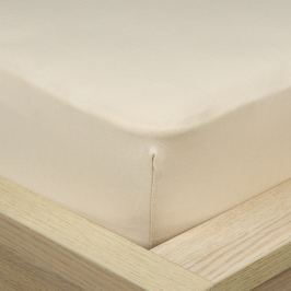 4Home Jersey lepedő elasztánnal bézs színű, 90 x 200 cm