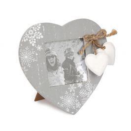Love Winter fényképkeret szürke, 14 x 14,5 cm