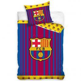 FC Barcelona Vertical pamut ágynemű, 140 x 200 cm, 70 x 90 cm