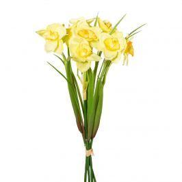 Művirág nárcisz csokor sárga, 30 cm
