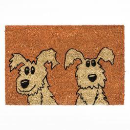 BO-MA Trading Kókusz lábtörlő kutyák, 40 x 60 cm