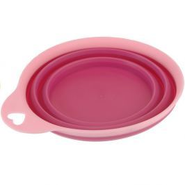 Összecsukható szilikon tál Colours, rózsaszín