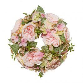 Rózsa romantikus mű koszorú, átmérő 32 cm