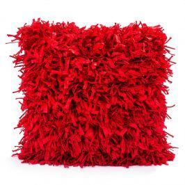 BO-MA Trading Shaggy párnahuzat piros, 45 x 45 cm