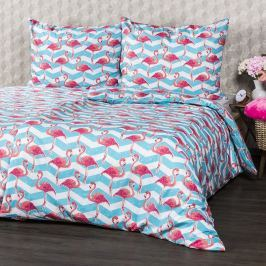 4Home Flamingo pamut ágyneműhuzat, 160 x 200 cm, 70 x 80 cm, 160 x 200 cm, 70 x 80 cm