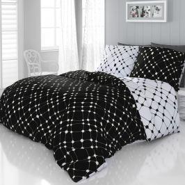 Kvalitex Infinity szatén ágyneműhuzat fekete-fehér, 240 x 200 cm, 2 db 70 x 90 cm