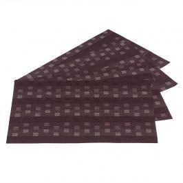 Jahu Grid alátétek barna, 30 x 45 cm, 4 db-os szett