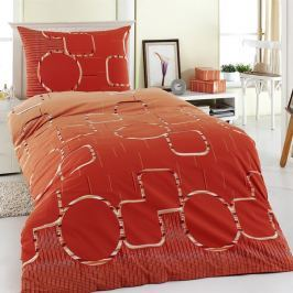 Night in Colours Myra pamut ágyneműhuzat narancssárga, 140 x 200 cm, 70 x 90 cm