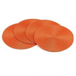 Deco kör alakú alátétek narancssárga, átmérője 35 cm, 4 db-os szet