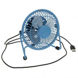 USB ventilátor, kék, 13,5 x 11 x 15 cm
