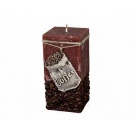 Coffee Bag Dekoratív gyertya barna, 14 cm
