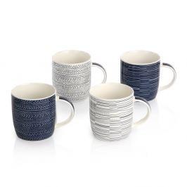 Blue Porcelán bögre készlet, 330 ml, 4 db